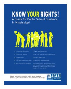 Know Your Right Book - Mississippi Families as Allies