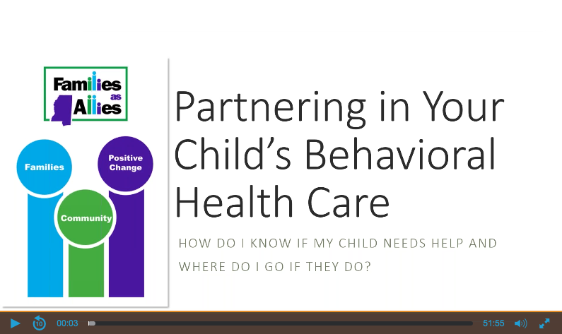 Partnering in Your Child's Behavioral Health Care