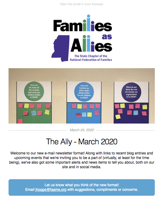 The Ally - March 2020 - Families as Allies
