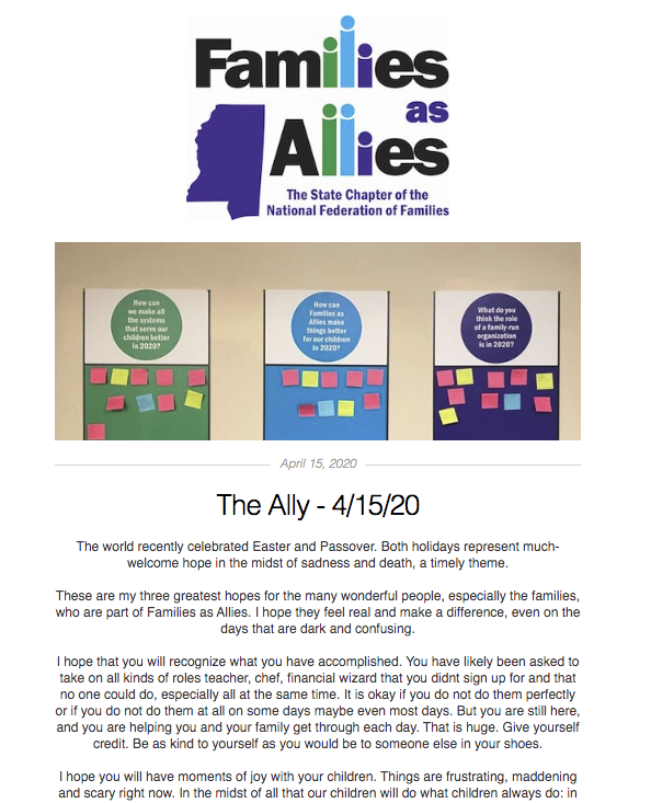 The Ally - April 15 - Families as Allies