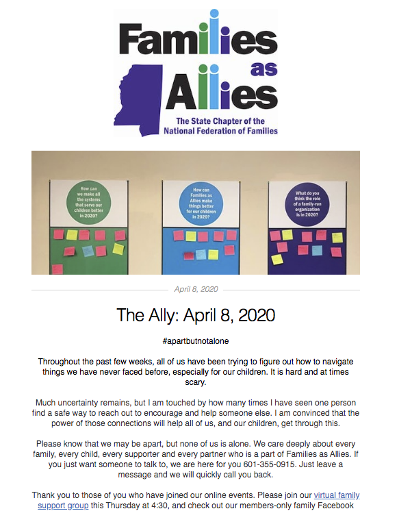 The Ally - April 15 2020 - Families as Allies