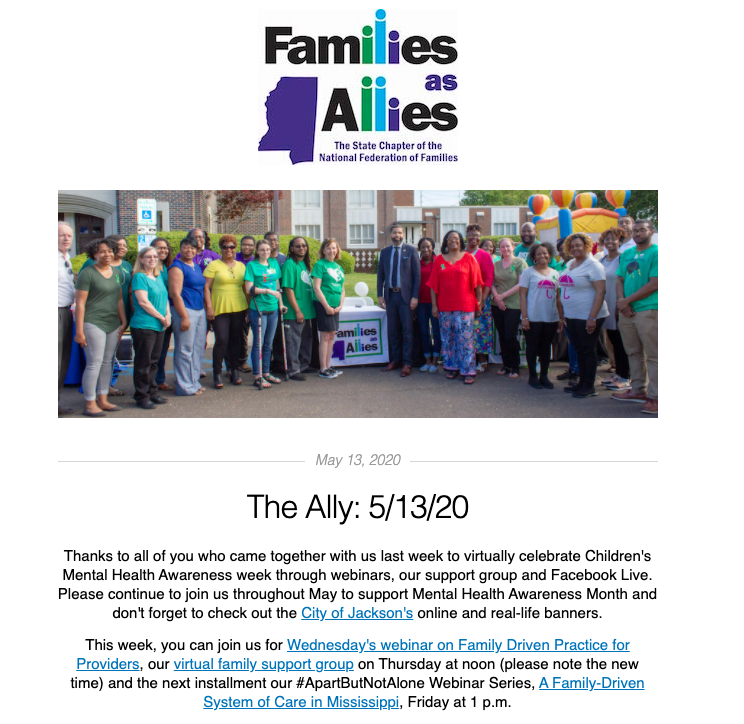 5/13/20 The Ally - Families as Allies