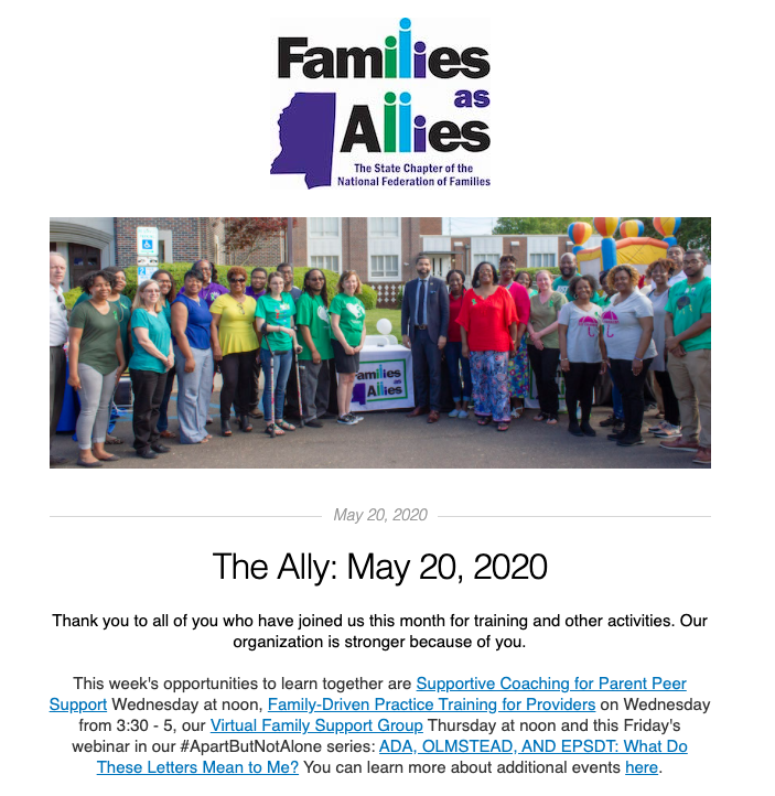 The Ally 5/20/20 - Families as Allies