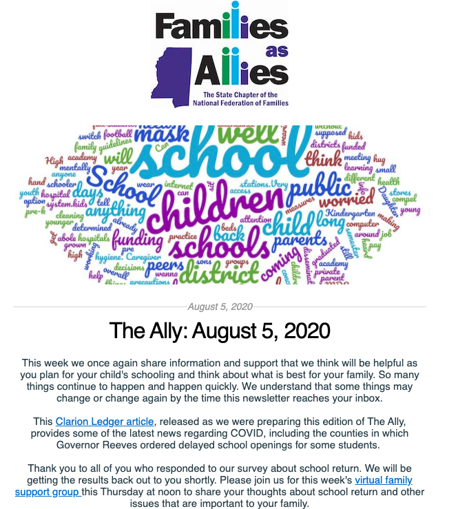 Aug 5 2020 - The Ally - Families as Allies