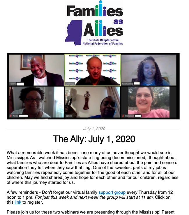 The Ally July 1 - Families as Allies