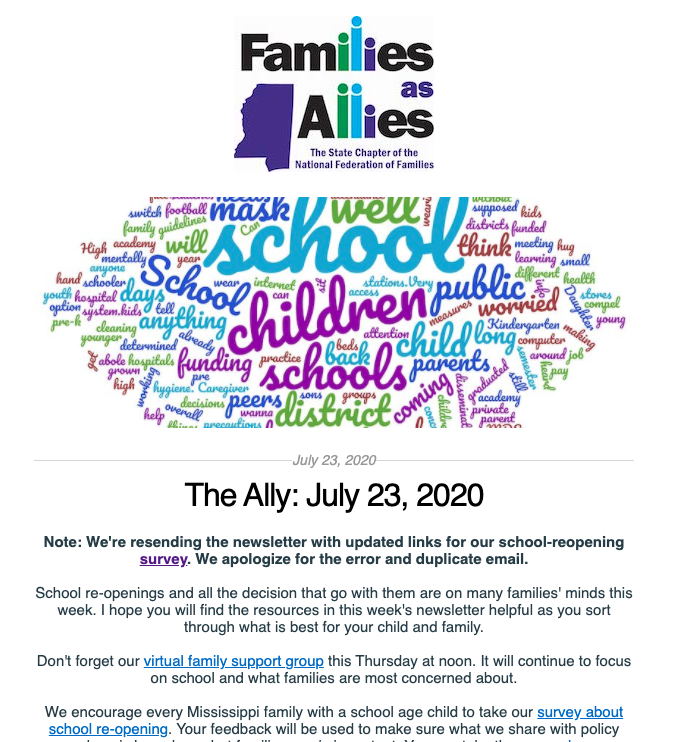 July 23 - The Ally - Families as Allies
