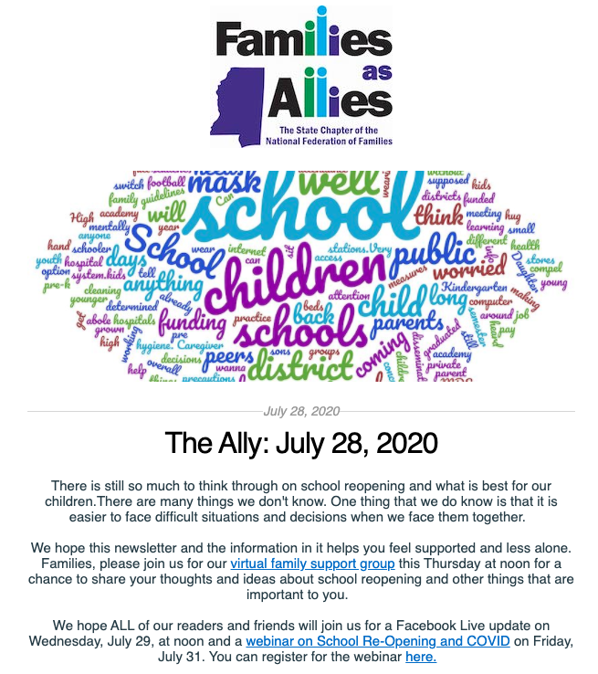 July 28, 2020 - The Ally - Families as Allies