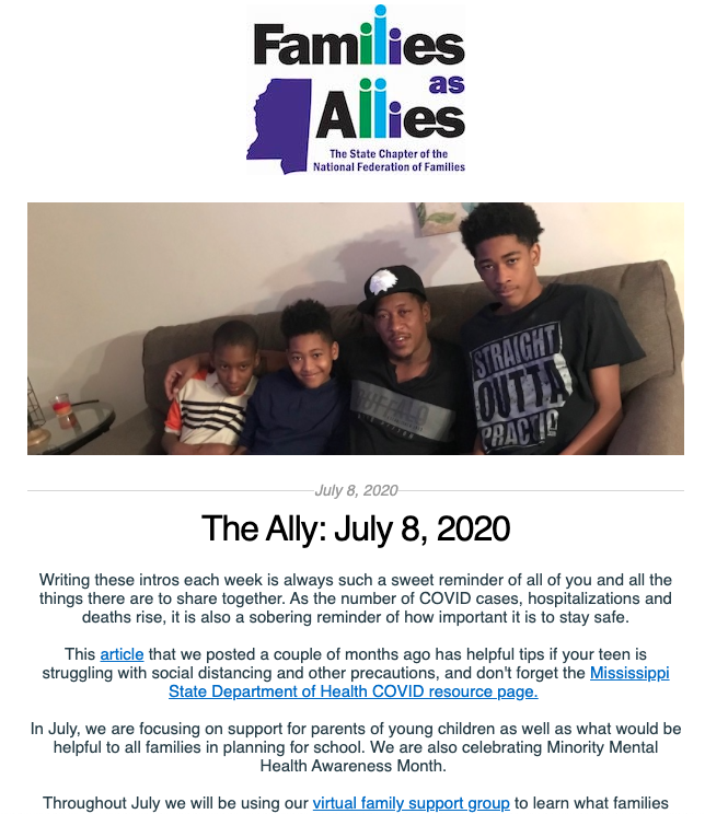 The Ally July 8 - Families as Allies