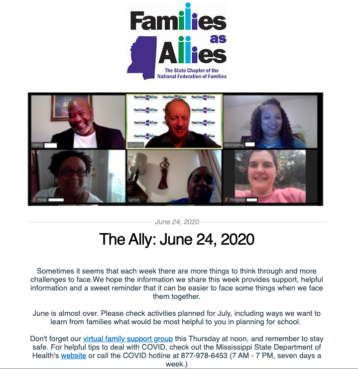 The Ally - June 24 - Families as Allies