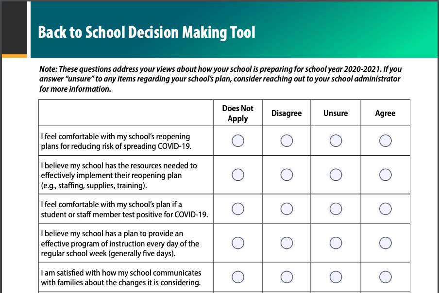 You are currently viewing School Decision-Making Tool for Parents, Caregivers, and Guardians