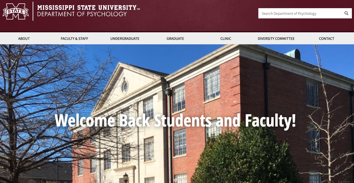 Department of Psychology - Mississippi State University