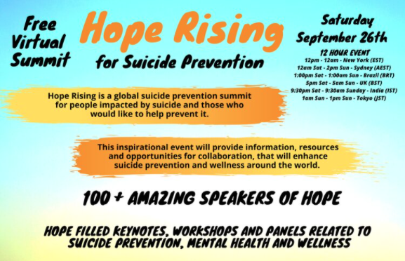 Read more about the article Hope Rising for Suicide Prevention: Final Agenda Posted