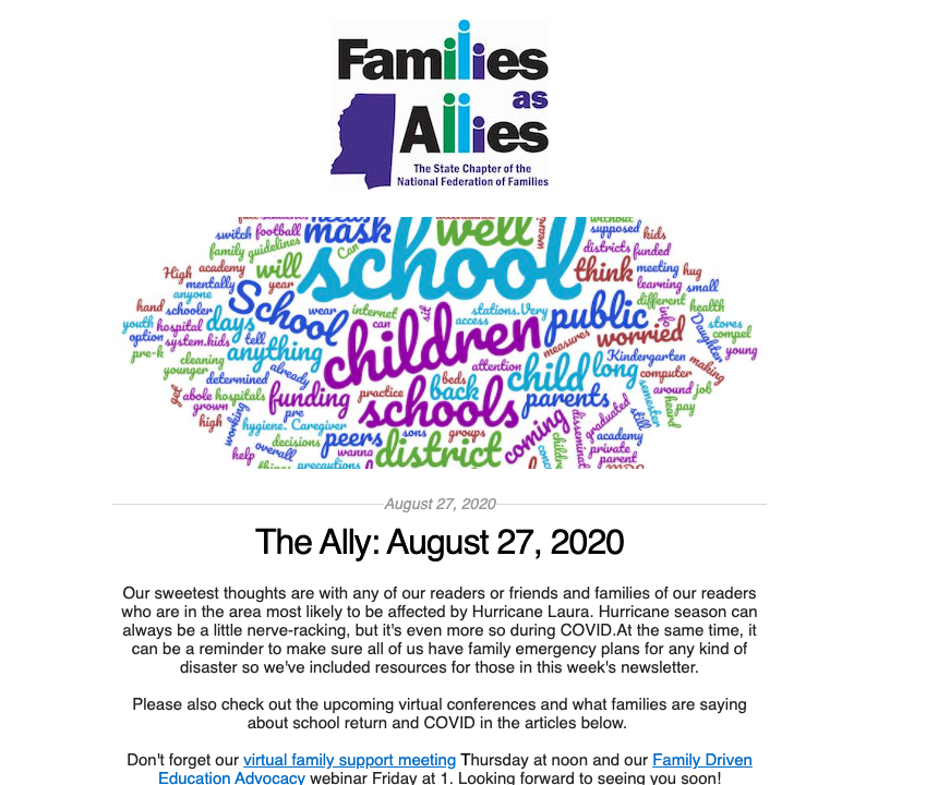 The Ally - Aug 27, 2020 - Families as Allies