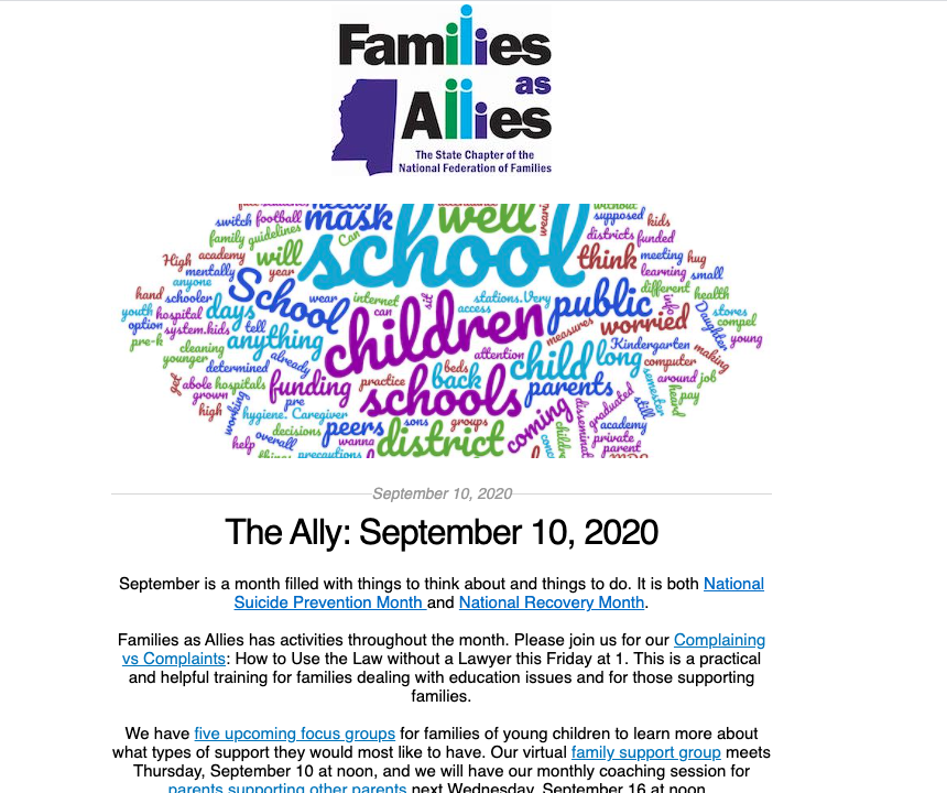 The Ally 091020 Families as Allies