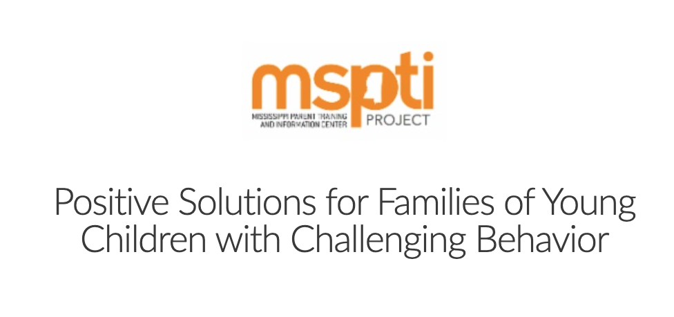 Positive Solutions - MSPTI - Families as Allies
