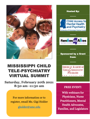 Mississippi Child Tele-Psychiatry Virtual Summit