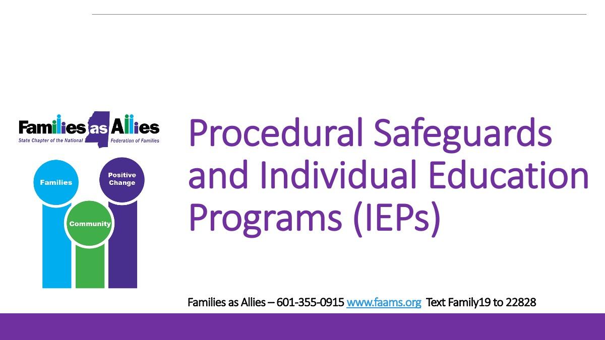 IEPs Webinar Slide - Families as Allies