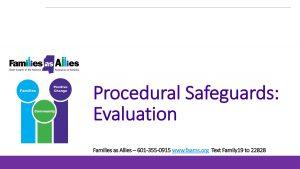 Procedural Safeguards - Evaluation