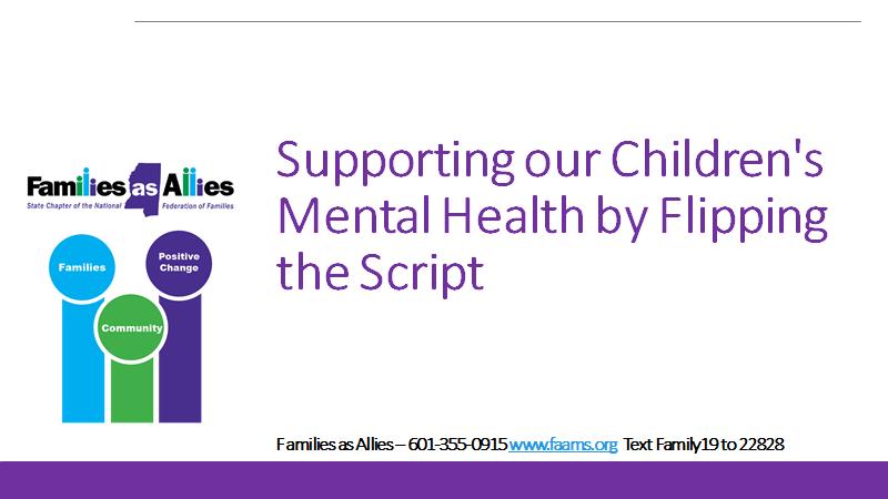flip the script webinar slide - families as allies