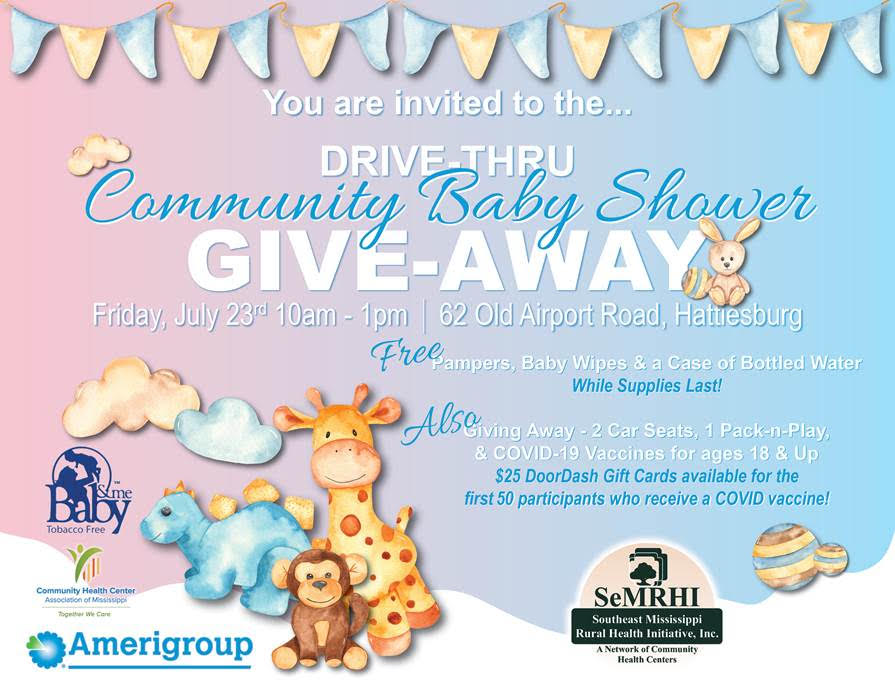 community baby shower poster