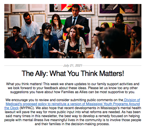 the ally july 21 2021 screen shot