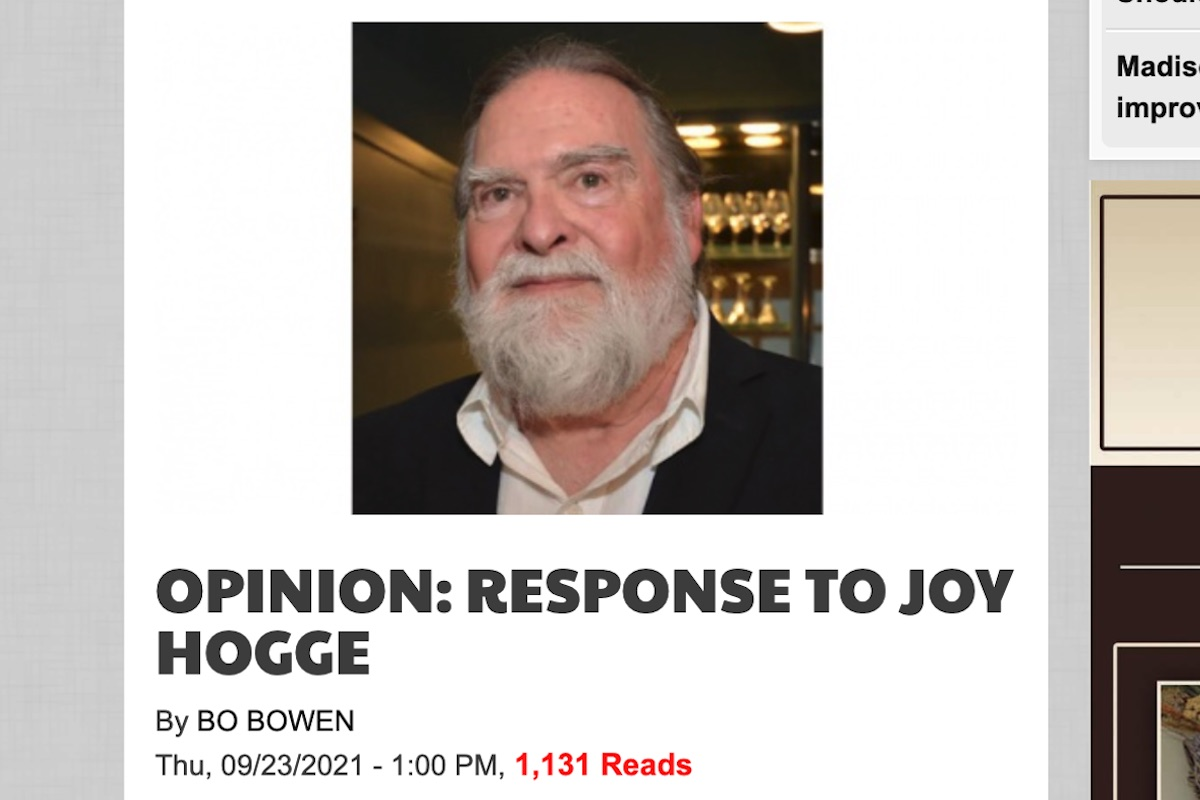 Read more about the article Bo Bowen's Response to Joy Hogge in Northside Sun
